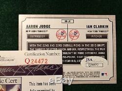 AARON JUDGE 2013 Bowman Draft Rookie card AUTOGRAPH SIGNED JSA COA NY Yankees