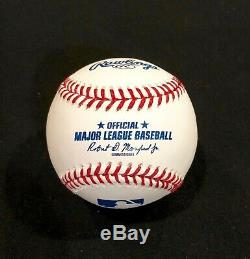 AARON JUDGE AUTOGRAPHED Hand SIGNED O. M. L. BASEBALL N. Y. YANKEES withCOA & Cube