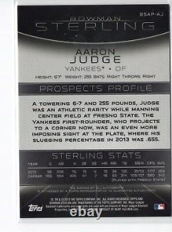 AARON JUDGE AUTO 2013 Bowman Sterling Prospects Autograph Rookie Card RC QTY AVL