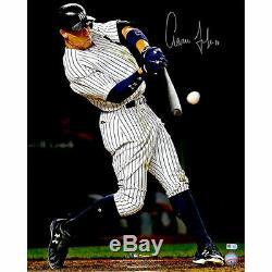 AARON JUDGE Autographed 16 x 20 Hitting Home Run Photograph FANATICS