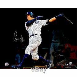 AARON JUDGE Autographed 16 x 20 Home Run Follow Through Photograph FANATICS