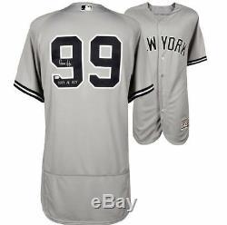 AARON JUDGE Autographed 2017 AL ROY Authentic Yankees Away Jersey FANATICS