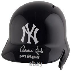 AARON JUDGE Autographed 2017 AL ROY New York Yankees Batting Helmet FANATICS