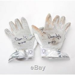 AARON JUDGE Autographed GU 2018 Silver Game Used Batting Gloves FANATICS
