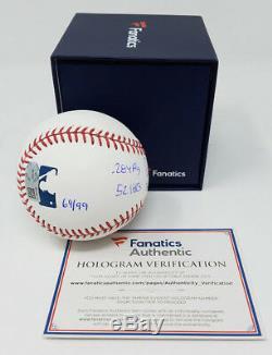 AARON JUDGE Autographed Multi ROY Stat NY Yankees Baseball FANATICS LE 69/99
