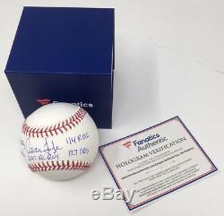 AARON JUDGE Autographed Multi ROY Stat NY Yankees Baseball FANATICS LE 74/99