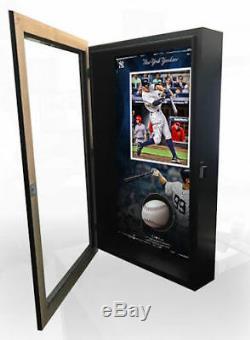 AARON JUDGE Autographed New York Yankees Baseball Collage Shadowbox FANATICS