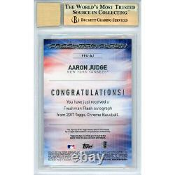 AARON JUDGE Autographed Yankees 2017 TOPPS CHROME RC Card BECKETT 10