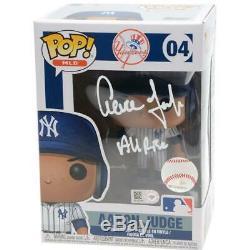 AARON JUDGE Autographed Yankees All Rise Funko Figurine FANATICS LE 8