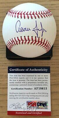 AARON JUDGE FULL NAME With#99 PSA/DNA AUTHENTICATED SIGNED MINT MANFRED BASEBALL