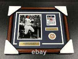 AARON JUDGE NEW YORK YANKEES Autographed SIGNED Card 8x10 PHOTO FRAMED