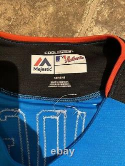 AARON JUDGE SIGNED 17 ASG ALLSTAR GAME HR DERBY JERSEY BP Issued See Auth Descri