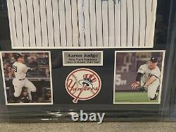 AARON JUDGE Signed 2017 AL Rookie Of The Year Baseball Jersey Framed JSA#BB63347