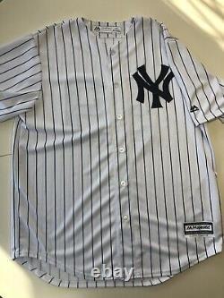 AARON JUDGE Signed AUTO NY New York Yankees P/S Majestic Baseball Jersey COA ROY