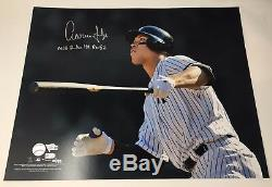AARON JUDGE Signed MLB Rookie Record 52 16 x 20 Photograph FANATICS LE 10/99