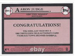 Aaron Judge #1/3 2020 Topps Archives Black Corn Field On Card Auto Yankees Rare