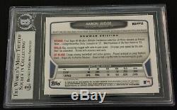 Aaron Judge 2013 Bowman Chrome Draft Signed Rookie Card Beckett Slabbed