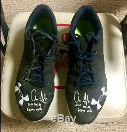 Aaron Judge 2016 ROOKIE Game Used Autographed Signed UA Cleats. Yankees REDUCED