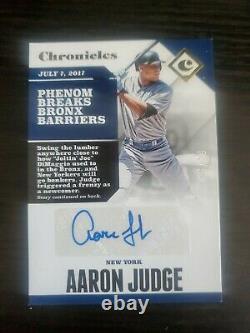 Aaron Judge 2017 Panini Chronicles Gold Autograph #/99 Auto Signature Yankees