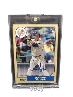 Aaron Judge 2017 Topps 1987A-AJU Auto Signed Yankees Star Heritage
