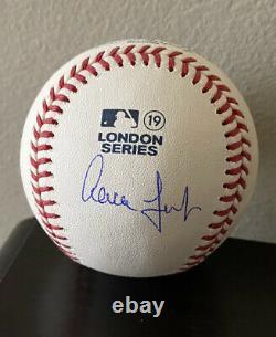 Aaron Judge 2019 London Series Autographed Baseball New York Yankees
