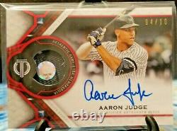 Aaron Judge 2021 Topps Tribute Autographed Auto Patch Yankees 4/10