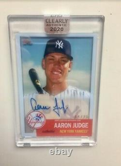 Aaron Judge Auto #/25 2020 Topps Clearly Authentic Encased Signed 1953 Card