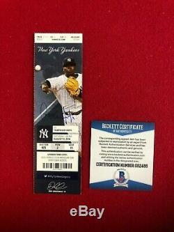 Aaron Judge, Autographed (Beckett), (MLB Debut Ticket) (1st HR)