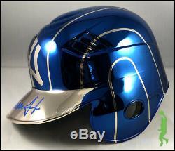 Aaron Judge Autographed Custom Chrome Yankees Baseball Batting Helmet Jsa Coa