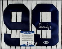 Aaron Judge Autographed New York Yankees Baseball Jersey Beckett Bas Coa