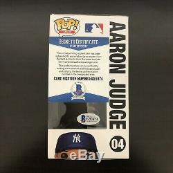 Aaron Judge Autographed Signed Funko Pop 04 New York Yankees BAS Beckett COA