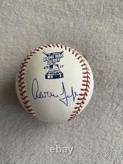 Aaron Judge Autographed Signed NY Yankees 2017 Home Run Derby Baseball MLB COA