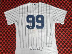 Aaron Judge Autographed Signed Yankees Mlb Baseball Jersey With Coa New York