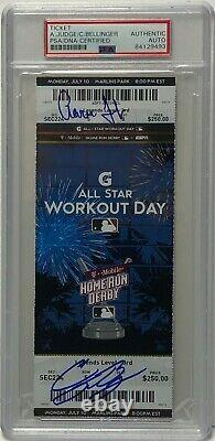 Aaron Judge & Cody Bellinger Signed 2017 Home Run Derby All-Star Ticket Stub PSA