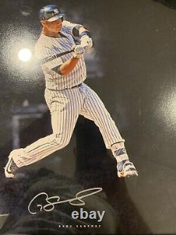 Aaron Judge, Gary Sanchez, Tyler Austin autographed framed photo, Steiner COA