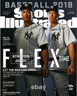 Aaron Judge & Giancarlo Stanton NY Yankees Signed 16x20 Flex Time S. I. Photo