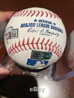 Aaron Judge & Giancarlo Stanton Signed Baseball Yankees -MLB & Fanatics Stickers
