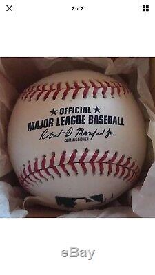 Aaron Judge Giancarlo Stanton Signed NY Yankees ROMLB Ball COA