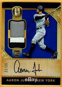 Aaron Judge Gold Standard 3 Piece Jersey / Autograph / Auto # 21 / # 25 Sp