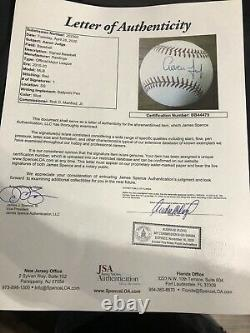 Aaron Judge JSA COA FULL LOA SIGNED BASEBALL AUTOGRAPHED New York Yankees RARE