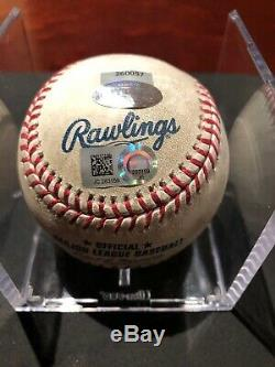 Aaron Judge MLB Game Used Double Rbi Sweet Spot Signed Career Hit #176 Yankees
