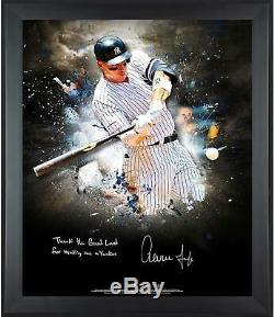 Aaron Judge NY Yankees Framed Signed 20 x 24 In Focus Photo & Insc SM 10/10