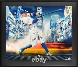 Aaron Judge NY Yankees Framed Signed 20 x 24 Titans of the Game Photo