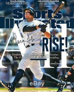Aaron Judge NY Yankees Signed 16 x 20 All Rise Sports Illustrated Cover Photo
