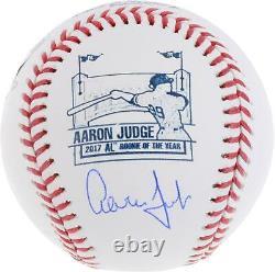 Aaron Judge NY Yankees Signed Rawlings 2017 AL Rookie of the Year Logo Baseball