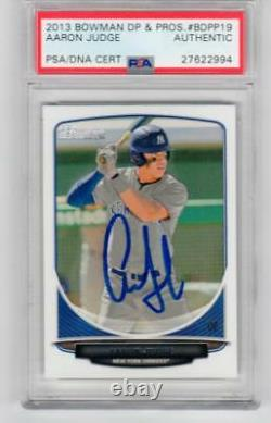 Aaron Judge NY Yankees signed 2013 Bowman Rookie card #19 Draft Picks Prospects