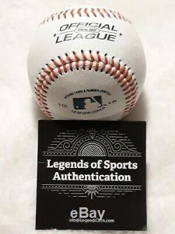 Aaron Judge New York Yankees Autographed Baseball with2017 AL R. O. Y. Inscription