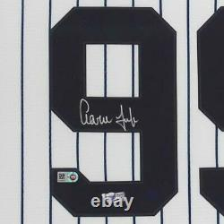 Aaron Judge New York Yankees Deluxe Framed Autographed White Nike Replica Jersey