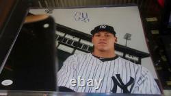 Aaron Judge New York Yankees Signed 11x14 Photo JSA