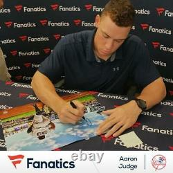 Aaron Judge New York Yankees Signed 16 x 20 Running Out of Dugout Photo